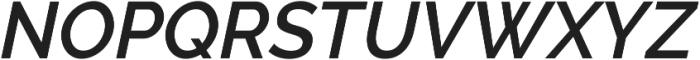 Aurora SemiBold Italic otf (600) Font UPPERCASE