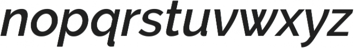 Aurora SemiBold Italic otf (600) Font LOWERCASE