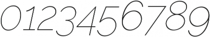 Aurora Thin Italic otf (100) Font OTHER CHARS