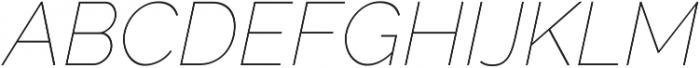 Aurora Thin Italic otf (100) Font UPPERCASE