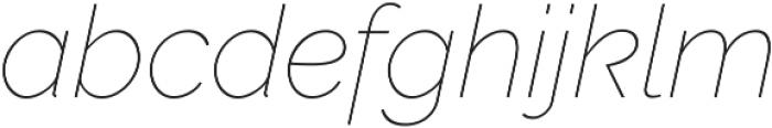 Aurora Thin Italic otf (100) Font LOWERCASE