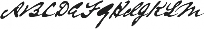 Austin Pen otf (700) Font UPPERCASE