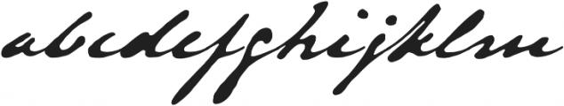 Austin Pen otf (700) Font LOWERCASE