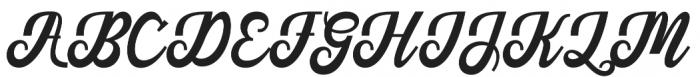Austine Script Regular otf (400) Font UPPERCASE