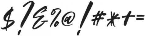 Austine Slant otf (400) Font OTHER CHARS