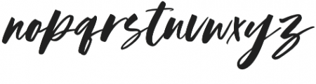 Austine Slant otf (400) Font LOWERCASE