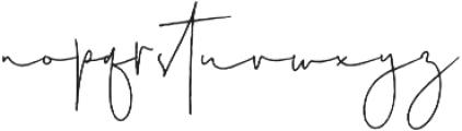 Australia Script Reguler otf (400) Font LOWERCASE