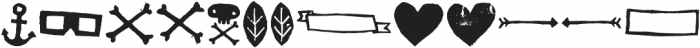 Australia Skate Dingbat Two otf (400) Font LOWERCASE