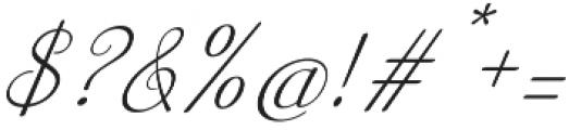 Australian Script Italic otf (400) Font OTHER CHARS