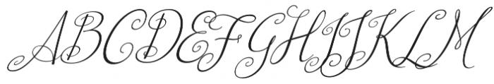 Australian Script Italic otf (400) Font UPPERCASE
