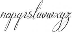 Australian Script Italic otf (400) Font LOWERCASE