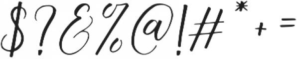 Australis Italic otf (400) Font OTHER CHARS