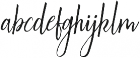 Australis Italic otf (400) Font LOWERCASE