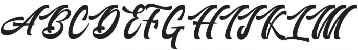Authem Regular otf (400) Font UPPERCASE