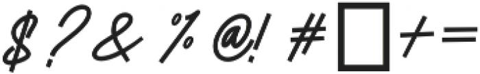 Authencya otf (400) Font OTHER CHARS