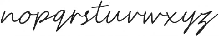 Authencya otf (400) Font LOWERCASE