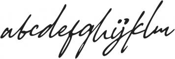 Authentic Handwritten Font otf (400) Font LOWERCASE