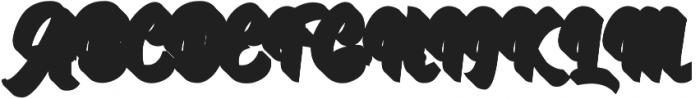 Authentic Script Extrude Regular otf (400) Font UPPERCASE