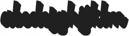 Authentic Script Extrude Regular otf (400) Font LOWERCASE