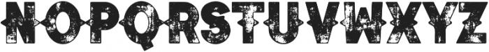 Authentico Spurred Rough Regular ttf (400) Font UPPERCASE