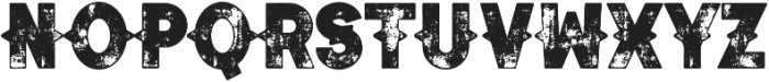 Authentico Spurred Rough Regular ttf (400) Font LOWERCASE