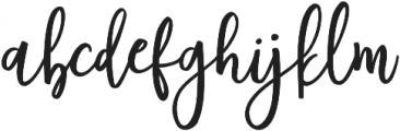 Author Regular otf (400) Font LOWERCASE