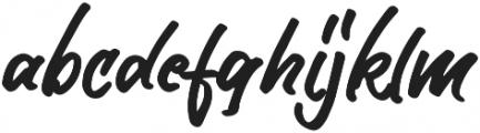 Author Type Regular otf (400) Font LOWERCASE