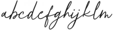 Authorians otf (400) Font LOWERCASE