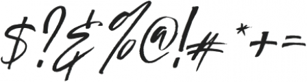 Authority Italic otf (400) Font OTHER CHARS