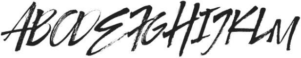 Authority Italic otf (400) Font UPPERCASE