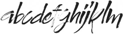 Authority Italic otf (400) Font LOWERCASE