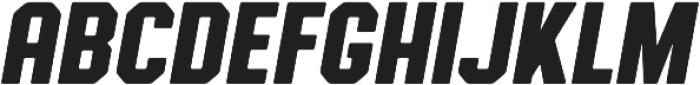 Authority Rounded Italic ttf (400) Font LOWERCASE