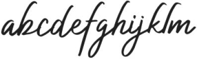 AuthorizedSignature-Regular otf (400) Font LOWERCASE