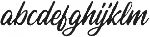 Autogate Rough otf (400) Font LOWERCASE