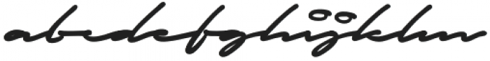 Autograf otf (400) Font LOWERCASE