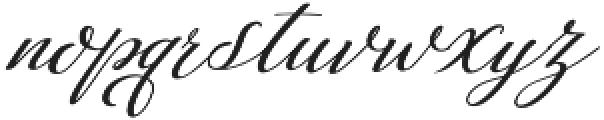 Auttan Italic Italic otf (400) Font LOWERCASE