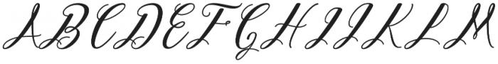 Autumn Script otf (400) Font UPPERCASE