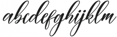 Autumn Script otf (400) Font LOWERCASE