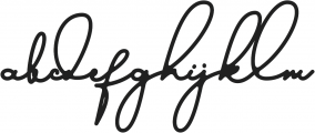 austinsigns otf (400) Font LOWERCASE