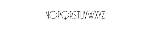 AURANOUVA.ttf Font UPPERCASE