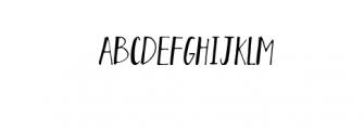 August.otf Font UPPERCASE