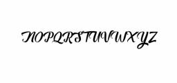 Auntekhno Script Font UPPERCASE