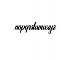 Auntekhno Script Font LOWERCASE