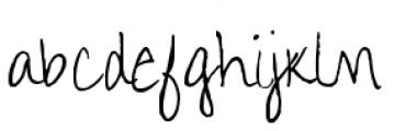 Aundee BTN Regular Font LOWERCASE