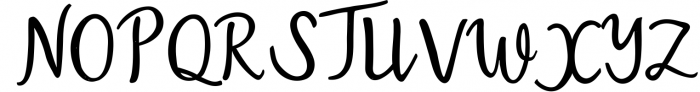 Austin Script Font UPPERCASE