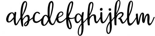 Austin Script Font LOWERCASE