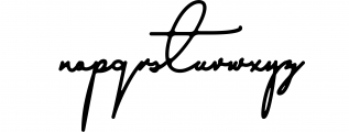 Austin Signs Font LOWERCASE