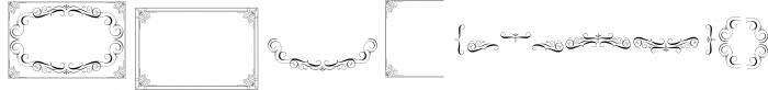 Authemart - Elegant Frames & Ornament 1 Font UPPERCASE