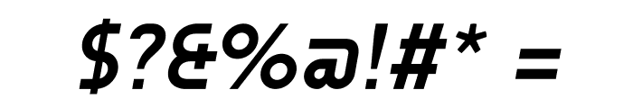 AUdimat Bold Italic Font OTHER CHARS