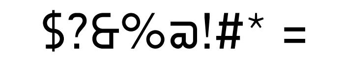 AUdimat Regular Font OTHER CHARS